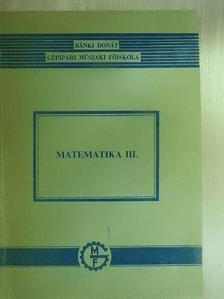 Bíró Imre - Matematika III. [antikvár]