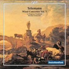 TELEMANN - WIND CONCERTOS VOL.5 CD MICHAEL SCHNEIDER, LA STAGIONE FRANKFURT