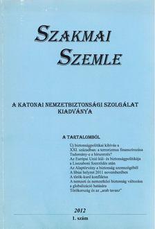 Horváth József - Szakmai Szemle 2012/1. szám [antikvár]