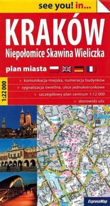 Expressmap - Krakkó várostérkép (papír) 1:22e 2019 (Expressmap)