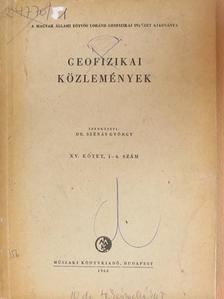 B. Kelemen Olga - Geofizikai Közlemények 1966/1-4. [antikvár]