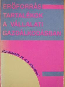 Balaton Károly - Erőforrás-tartalékok a vállalati gazdálkodásban [antikvár]