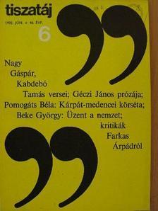 Beke György - Tiszatáj 1992. június [antikvár]