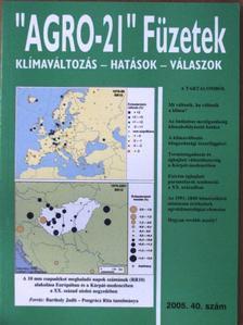 """Bartholy Judit - """"AGRO-21"""" Füzetek 2005/40. [antikvár]"""