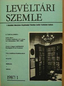 Albrechtné Kunszeri Gabriella - Levéltári Szemle 1987. január-december [antikvár]