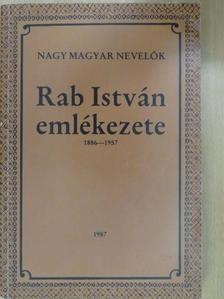 Balázs János - Rab István emlékezete (dedikált példány) [antikvár]