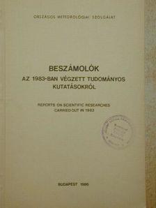 Ábrányi Andor - Beszámolók az 1983-ban végzett tudományos kutatásokról [antikvár]