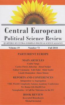 Simon János  (szerk.) - Central European Political Science Review vol.19 number 73 [antikvár]