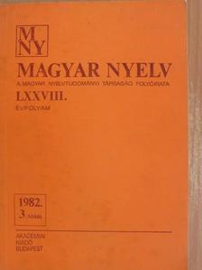 Bakos Ferenc - Magyar Nyelv 1982/3. [antikvár]