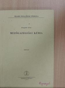 Forgách Géza - Mezőgazdasági kémia [antikvár]