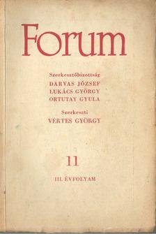 Vértes György - Forum III. évfolyam 11. szám [antikvár]