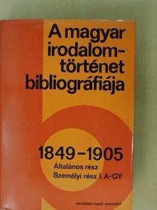 H. Törő Györgyi - A magyar irodalomtörténet bibliográfiája 3. [antikvár]