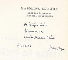 Vayer Lajos - Masolino és Róma (dedikált) [antikvár]