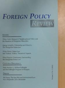 Kántor Zoltán - Foreign Policy Review 2/2003. [antikvár]