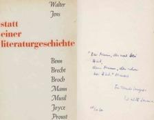 Walter Jens - Statt einer Literaturgeschichte (dedikált) [antikvár]