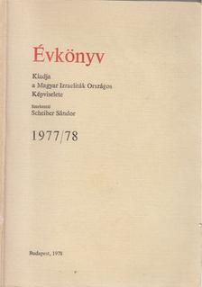 Scheiber Sándor - Évkönyv 1977/78 [antikvár]