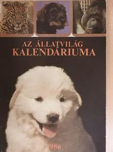 E. R. Burroughs - Az Állatvilág kalendáriuma 1986 [antikvár]