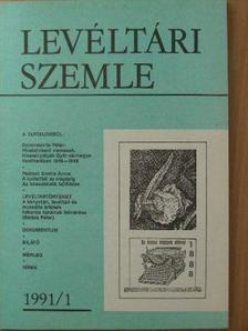 Albrechtné Kunszeri Gabriella - Levéltári Szemle 1991/1 [antikvár]