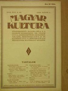 B. B. - Magyar Kultúra 1930. május 5. [antikvár]