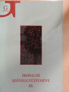 A. P. Csehov - Irodalmi szöveggyűjtemény III. [antikvár]