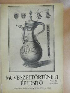 Kiss Ákos - Művészettörténeti Értesítő 1969/2. [antikvár]