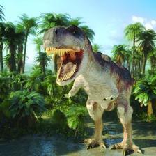 MCG34 - T-rex 3D hűtőmágnes  75 x 75 mm M