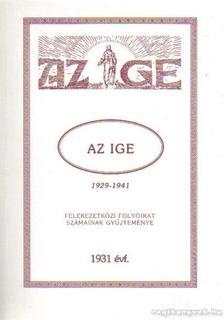 Az Ige 1931 évf. (reprint) [antikvár]
