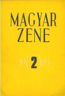 Breuer János - Magyar zene 1985/2 [antikvár]