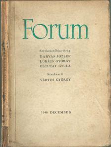 Vértes György - Forum 1946. december [antikvár]