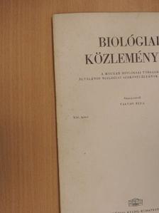 Kiszely György - Biológiai Közlemények XIV/2. [antikvár]