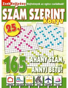 CSOSCH KIADÓ - ZsebRejtvény SZÁM SZERINT Könyv 25.