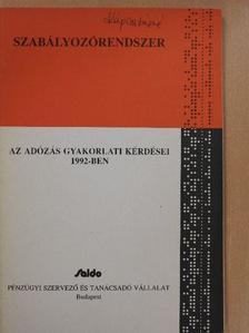 Nagy Emil - Az adózás gyakorlati kérdései 1992-ben [antikvár]