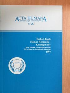 Fehér Lenke - Acta Humana 26. [antikvár]