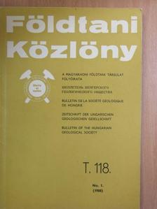 Balla Zoltán - Földtani Közlöny 1988/1. [antikvár]