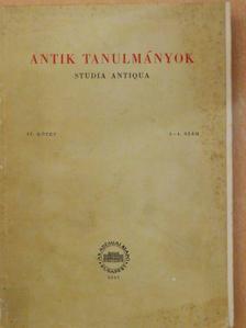 Csallány Dezső - Antik tanulmányok 1957/3-4. [antikvár]