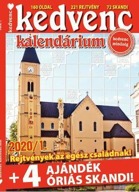CSOSCH KIADÓ - Kedvenc Kalendárium 2020/1