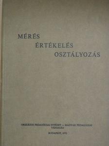 A. M. Matyuskin - Mérés-értékelés-osztályozás [antikvár]