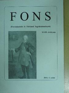 Gálfi Emőke - FONS 2011/1. [antikvár]