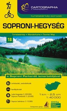 """Cartographia Kiadó - Soproni-hegység turistatérkép - """"SC"""""""