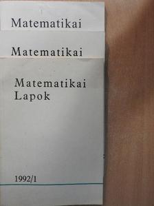 Erdős Pál - Matematikai Lapok 1992. január-december [antikvár]