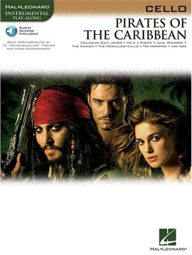 BADELT,ZIMMER,HENDERSON - PIRATES OF THE CARIBBEAN FOR CELLO SOLO WITH CD ACCOMPANIMENT