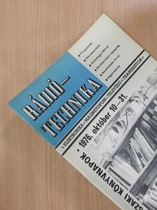 Bassó Andor - Rádiótechnika 1976. október  [antikvár]