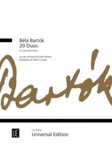 Bartók Béla - 20 DUOS FÜR ZWEI KLARINETTEN AUS DEN 44 DUOS FÜR ZWEI VIOLINEN, BEARB. MARCIN LANGER