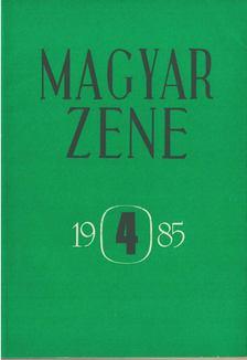 Breuer János - Magyar zene 1985/4 [antikvár]