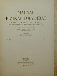 Kovács István - Magyar Fizikai Folyóirat XIV. kötet 4. füzet [antikvár]