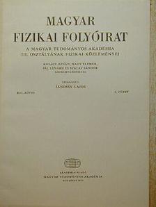 Kovács István - Magyar Fizikai Folyóirat XXI. kötet 6. füzet [antikvár]
