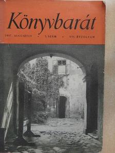 Dr. Tóth Béla - Könyvbarát 1957. augusztus [antikvár]