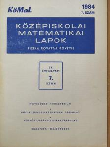 Kőváry Károly - Középiskolai matematikai lapok 1984/7. [antikvár]