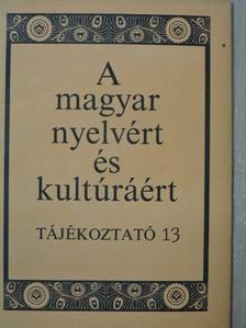 Bánhidi Zoltán - A magyar nyelvért és kultúráért [antikvár]
