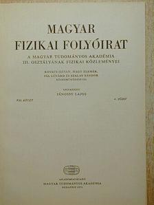 Kovács István - Magyar Fizikai Folyóirat XXI. kötet 4. füzet [antikvár]